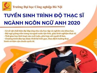 Khoa Ngoại ngữ tuyển sinh đào tạo trình độ Thạc sĩ năm 2020