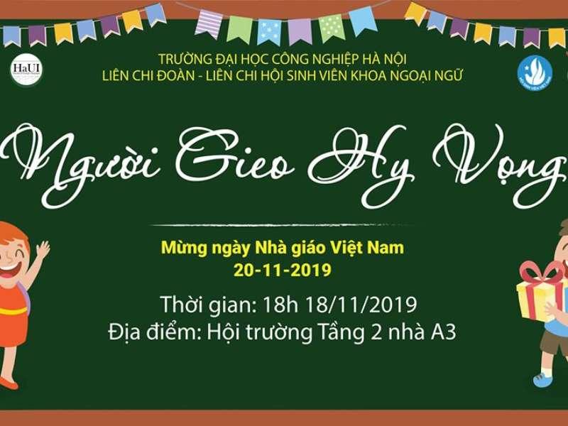 Người gieo hi vọng 2019 - Chào mừng ngày Nhà Giáo Việt Nam