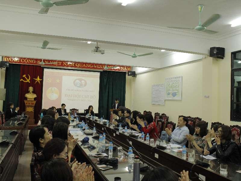Khoa Ngoại ngữ tổ chức Đại hội Chi bộ nhiệm kỳ 2020-2023