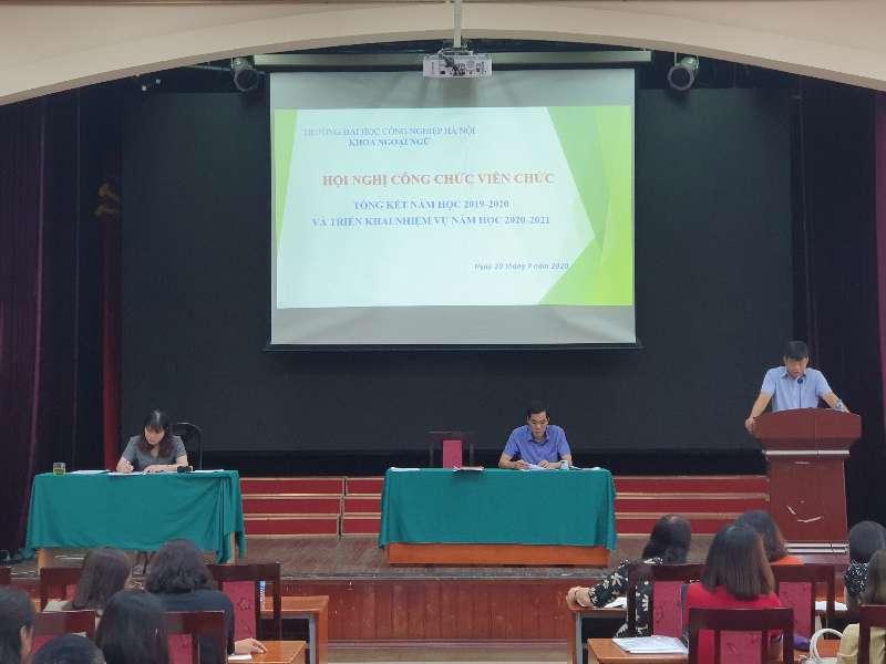 Khoa ngoại ngữ tổ chức Hội nghị viên chức, người lao động năm 2020